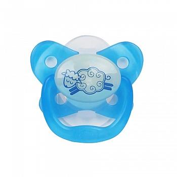 美国•布朗博士夜光舒睡安抚奶嘴(0-6个月)PV11007/8-ES 蓝