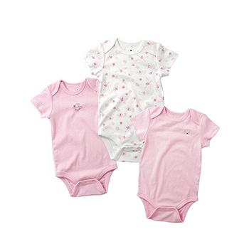 中国•Minizone卡斯波和丽莎包屁衣3件装粉