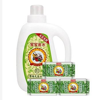 中国•宝宝金水洗衣液1L+洗衣皂220g*3
