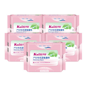 中国•开丽产妇专用卫生湿巾20片*5包