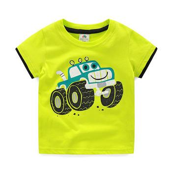 貝殼元素夏季男童卡通圓領T恤tx5003
