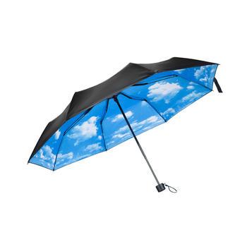 零听户外遮阳小黑伞晴雨伞花伞