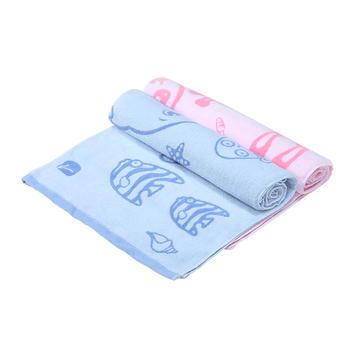 零听纯棉儿童浴巾办公午睡毛巾被