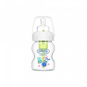 美国?布朗博士爱宝选5安士玻璃宽口婴儿奶瓶5oz/150ml(晶彩版)