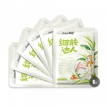 中国•韩后绿茶细肤达人面膜 6片装