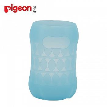 贝亲-宽口径硅胶奶瓶套(160ml)-潜水蓝