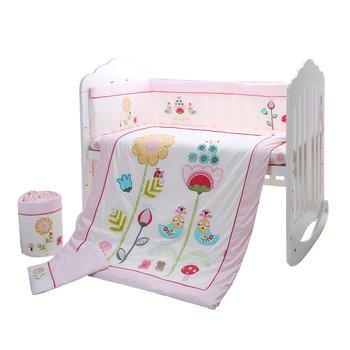中国•澳斯贝贝 婴儿床品7件套 维多利亚