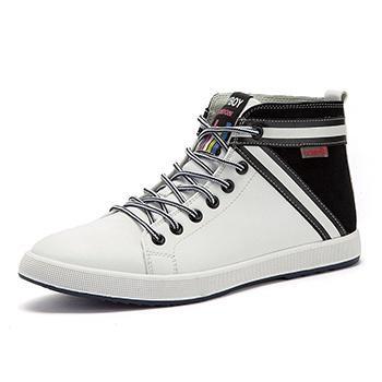 男鞋潮鞋英伦皮鞋男士休闲白色