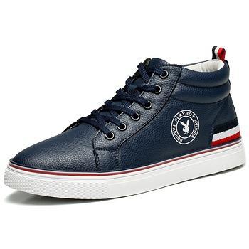 男鞋高帮板鞋潮流韩版休闲鞋深蓝