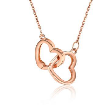 今上珠宝18K玫瑰金心形项链