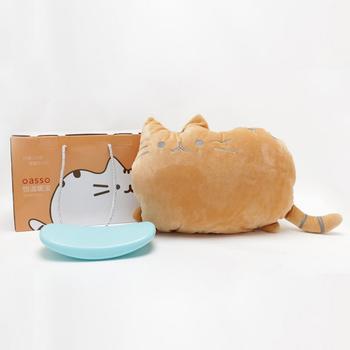 oasso微波炉加热暖宝宝-猫咪抱枕款