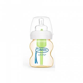 美国?布朗博士爱宝选PPSU宽口婴儿奶瓶5oz/150ml WB5110-CH