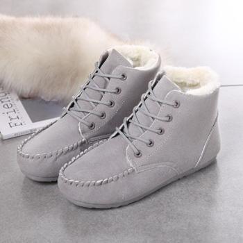 秋冬豆豆鞋女鞋短筒加绒短靴