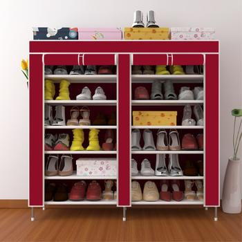 奕辰 加固双排7层鞋柜收纳柜