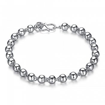 中国•990银光面珠圆珠手链直径5MM