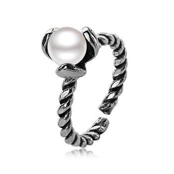925银珍珠开口戒指