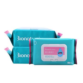 母乳时代婴儿柔湿巾80片 多规格