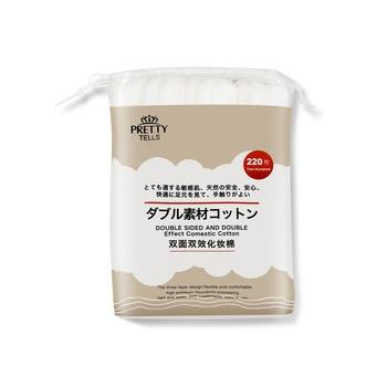 中国•Pretty tells双面双效化妆棉220片