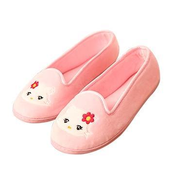 婧麒产妇产前产后防滑月子鞋粉猫