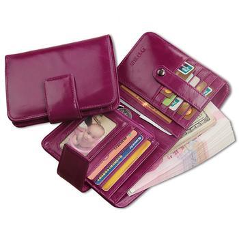 DUER简约搭扣短款优质钱包女式手拿包