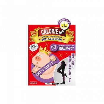 日本•小猪袜(CALORIE OFF) 显瘦着压连裤袜 60D M-L 黑色