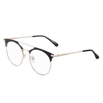 帕森男女半框时尚眼镜架