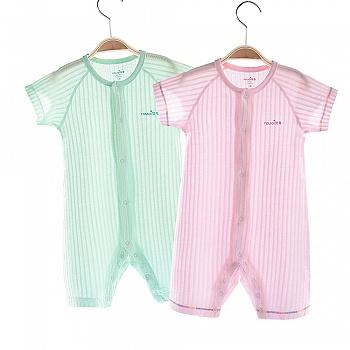 中国•优奇 纯棉短袖连体衣爬服 2件装