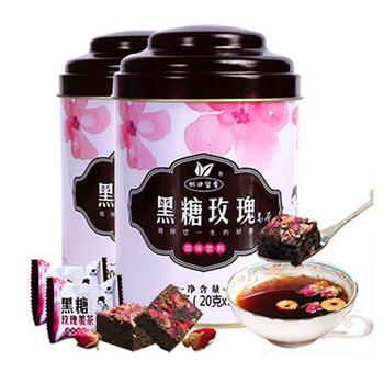 【买就送勺】黑糖玫瑰姜茶200g*2罐
