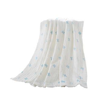 中国•澳斯贝贝 婴儿棉质印花纱布盖毯