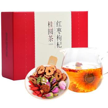 简品桂圆红枣枸杞茶150g组合茶花草茶