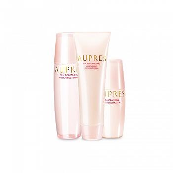 中国•欧珀莱 (AUPRES)均衡保湿护肤三件套(洁面膏125g+柔润水(滋润型)150ml+柔润乳(滋润型)100ml)
