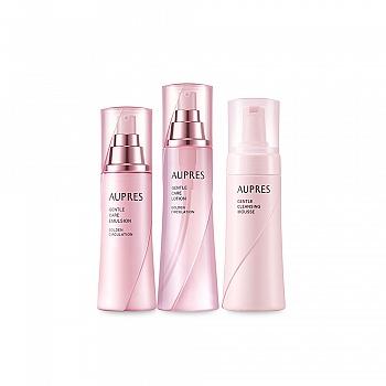欧珀莱 (AUPRES)温和循环三件套(净颜温和洁面摩丝150ml+调理水170ml+调理乳130ml)