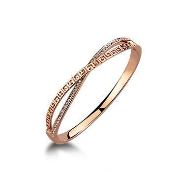 卡洛美 G字鍍18K玫瑰金戒指