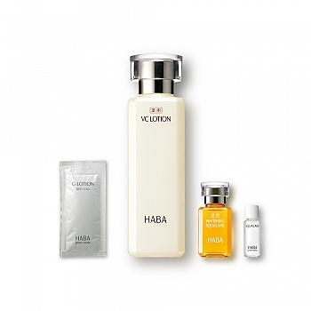 日本•HABA鲨烷美白美容油15ml+沁润美白柔肤水 3件套组