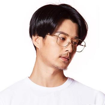 inmix音米时尚全框金属眼镜框