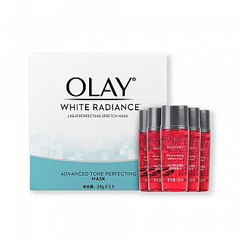 美国•Olay水感透白光塑钻纹弹力面膜 组合(水感弹力面膜 24g*5片*1+新生活能水18ml*5)