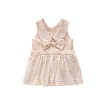 Cipango 婴儿有机棉蝴蝶结小裙子