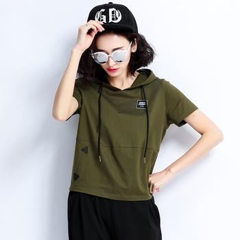 中国•自由呼吸宽松休闲短袖套装潮军绿