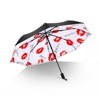 德国iRain三折烈焰红唇防晒太阳伞