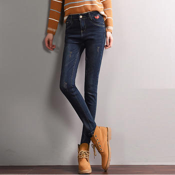 新款女裤子韩版修身W1703A显瘦百搭