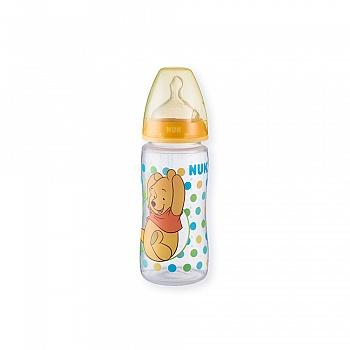 德国•NUK300ml宽口PP彩色迪士尼维尼奶瓶(带初生型硅胶中圆孔奶嘴)