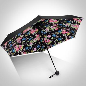 德国iRain五折袖珍印花蘑菇太阳伞