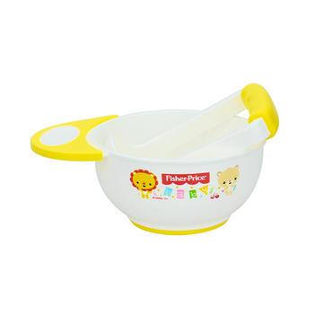 费雪婴儿食物手动研磨碗黄色