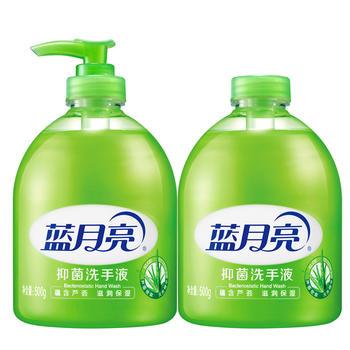蓝月亮芦荟洗手液500g*2瓶(瓶+瓶补)