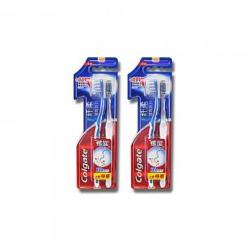 美国•高露洁(Colgate)纤柔双效旋白牙刷两支特惠装*2(多款颜色,随机发货)