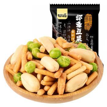 甘源牌 鲜虾味虾条豆果 休闲炒货零食 285g