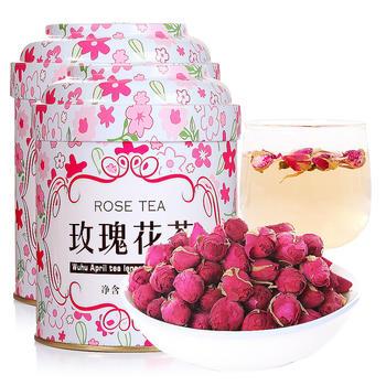 四月茶侬 玫瑰花茶50g× 2罐