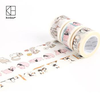 Kinbor彩色动物瑜伽和纸胶带