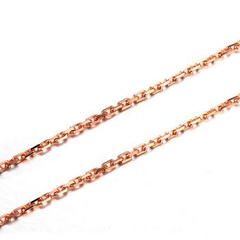 今上珠宝 18K金项链玫瑰金十字链  2.6g-18寸