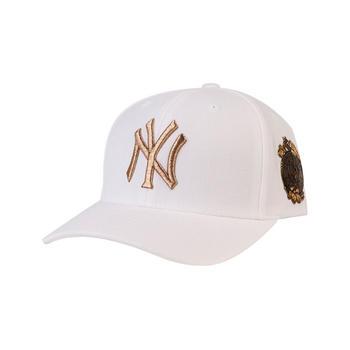 MLB时尚百搭可调节侧标压胶棒球帽